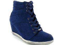 Blauwe La Strada sneakerwedges voor een spotprijsje van €29,00! Verkrijgbaar in vier kleuren #sneakerwedge
