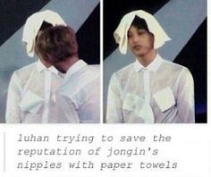 Good job Luhan! Protecting your little ones