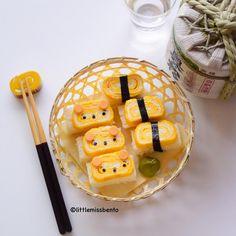 I made tamago 'sushi' sandwiches! Buzzfeed Tasty, Buzzfeed Food, Sushi Pop, Cute Food, Good Food, Sushi Sandwich, Kawaii Bento, Japanese Sweets, Aesthetic Food
