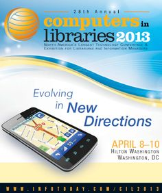 Find videos of sessions, presentations, and keynotes from the 2013 Computers and Libraries conference held Apr 8-10. The annual Computers in Libraries is the most comprehensive North American conference and exhibition on all aspects of library and information delivery technology.