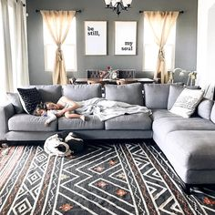 Kellan Sectional Sofa // Nothing like an over sized, comfy sectional to fill a space and host a lot of living Small Living Rooms, Living Room Modern, Living Room Interior, Living Room Furniture, Interior Livingroom, Comfy Sectional, Living Room Sectional, Comfy Couches, Oversized Sectional Sofa