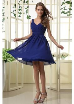 Short Royal Blue Bridesmaid Dress with V Neckline NBM85005  Megan these are 89.00 @meganblanton