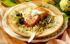 Salmon with Mint Couscous Recipe