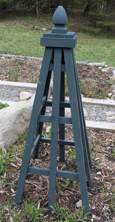 Plans For A Cedar Obelisk | Garden Obelisk - by mtkate | GardenTenders.com :: gardening community