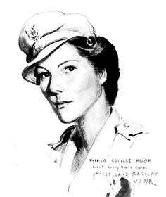 """2nd Lt. Willa Lucille Hook, one of the """"Angels of Bataan,"""" US Army Nurse served in WWII."""