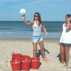 Oversized beer-pong!