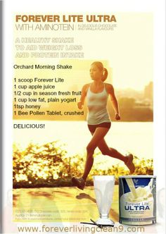 Here's a great shake recipe, healthy, tasty and really good for you!