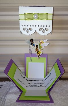Convite caixa com móbile - Festa Sininho Invitation box - Tinker Bell party