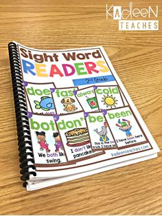 Sight Word Fluency Sentence Readers for second grade. Kindergarten Sight Words List, Dolch Sight Word List, Preschool Sight Words, Sight Word Readers, Sight Word Sentences, Teaching Sight Words, Sight Word Practice, Sight Word Activities, Sight Word Games