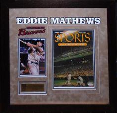 Eddie Mathews Signed Sports Illustrated - Antiquities LV