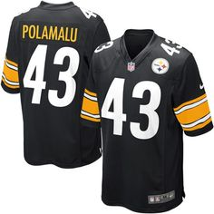 Youth Nike Pittsburgh Steelers Troy Polamalu Game Team Color Jersey