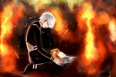 'Let's go home, Hide' And then Kaneki die and go with him. Sad Anime, Me Me Me Anime, Anime Love, Manga Anime, Hide And Kaneki, Saiko Yonebayashi, Ken Tokyo Ghoul, Ayato, Anime Shows