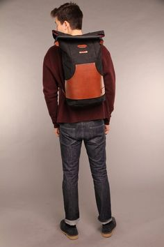 I like the front pocket, like a sweatshirt! Zuberi Roll Top Rucksack- Nomadic People