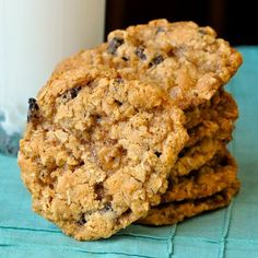 The Best Chewy Oatmeal Cookies. A real old fashioned recipe that has crispy edges and a softer chewier centre. The secret here is not to over bake them or they will become brittle.