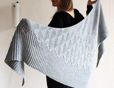 Leaf Knitting Pattern, Hand Knitting, Knitting Patterns, Crochet Patterns, Knit Wrap Pattern, Crochet Ideas, Shawl Patterns, Knitted Shawls, Knitted Scarves