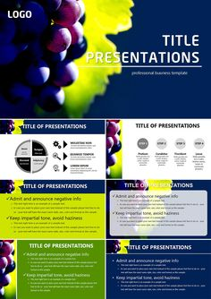 All of the grapes PowerPoint templates
