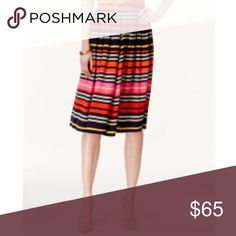 Eci New York Striped A-Line Midi Skirt Size:S NWT Eci New York Striped A-Line Midi Skirt Size:Small // NWT // I ship same-day from pet/smoke-free home. Buy with confidence. I am a top seller here for a reason. 😊😎 ECI Skirts A-Line or Full