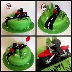 Motorbike 40th Birthday Cake Motorcycle Birthday Parties, Motorbike Cake, 40th Party Ideas, 40th Birthday Cakes, Cake Tutorial, No Bake Cake, Fathers Day, 18th, Birthdays