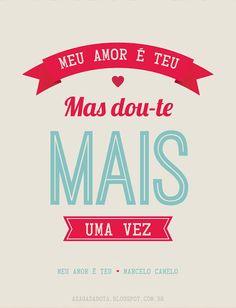 amor, 2013, dia dos namorados, fofo, tipografia, vintage, paixão, cartão, designer Kênia Lopes
