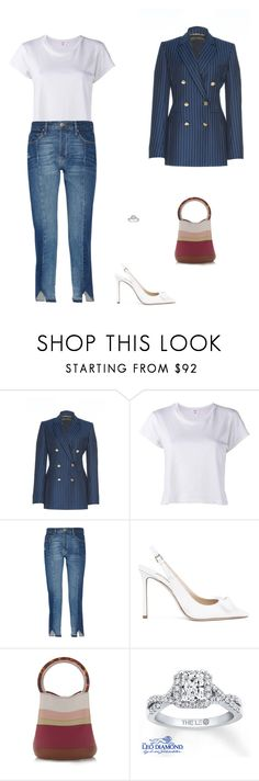 """""""Street Style"""" by julieselmer ❤ liked on Polyvore featuring Versace, RE/DONE, Frame, Jimmy Choo and Marni"""