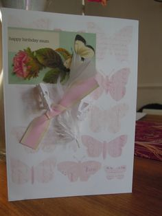 pretty birthday card for mother
