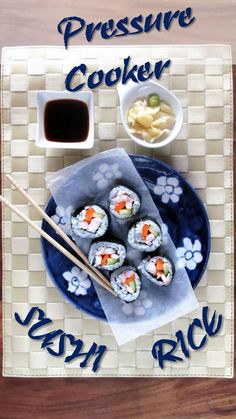 Pressure Cooker SUSHI Rice Instructions & VIDEO!