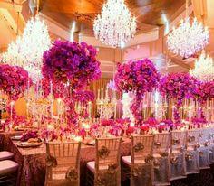 Wedded Wonderland hosts Karen Tran at Dockside Group's L'Aqua Gold Room Fuschia Wedding, Hot Pink Weddings, Unique Weddings, Wedding Colors, Wedding Flowers, Wedding Reception Decorations, Wedding Table, Our Wedding, Wedding Venues