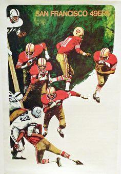 Vintage San Francisco 49ers Poster  Quest for Six