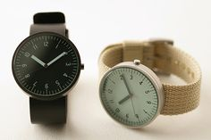 Muji watches. Clean, basic and simple. I especially like the wristband made of fabric.