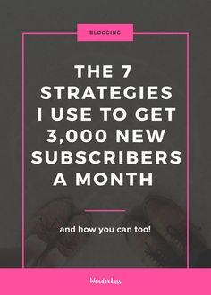 The 7 Strategies I Use to Get around 3,000 new Email Subscribers Each Month —…