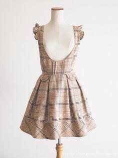 LIZ LISA Shoulder Frill Ribbon Jumper OP Dress JSK Sweet Lolita Kawaii Japan #LIZLISA #PeplumJSKJumperdress #Party