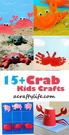crab craft - ocean kid craft - crafts for kids- kid crafts - acraftylife.com #preschool