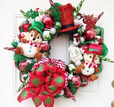 Chip and Dale Christmas Wreath