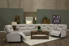 Marvelous ideas to take a look at Curved Sectional, Large Sectional, Sectional Sofa With Recliner, Living Room Sectional, Couches, Power Reclining Loveseat, Reclining Sectional, Sterling Grey, Clean Sofa