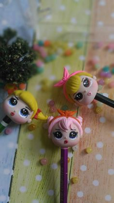 Pencil topper airdry clay