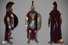 """One more character that have been created recently for project """"Sparta: war of empires"""" from Plarium Ancient Sparta, Ancient Rome, Ancient Greece, Ancient History, Medieval Art, Medieval Fantasy, Greek Soldier, Character Art, Character Design"""