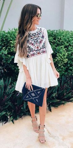 New Street Style Summer Fashion Dresses - Fashion Design Mode Hippie, Mode Boho, Hippie Chic, Spring Summer Fashion, Spring Outfits, Outfit Summer, Boho Dress, Dress Up, Dress Clothes