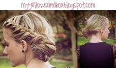 day 11 braided messy bun- MY FAVORITE HAIRSTYLE EVER. Except my hair is too long for messy buns.
