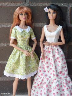 Vestidos para muñecas Poppy Paker.