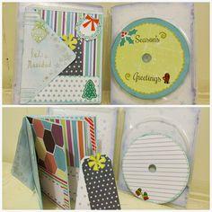 reciclaje de un estuche de dvd con un mini album de sobres y un cd