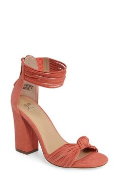 Free shipping and returns on Joe's Fatima Sandal (Women) at Nordstrom.com. A knotted toe band and dramatic ankle cuff define a towering block-heel sandal fashioned in slim strips of suede.