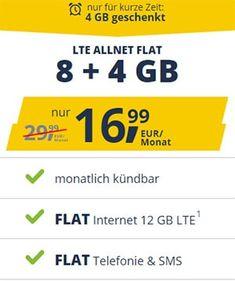 Freenet Mobile Tarife Im Vodafone Lte Netz Ab 7 49 Angebote 2019 In 2020 Handyvertrag Telefonie Sim Karte