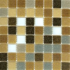 Mosaic glass tile blend modwalls brown, gray and white Brio Rocky Road