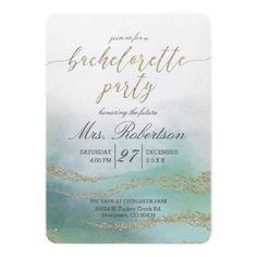 Elegant Watercolor Bachelorette Party Invitation
