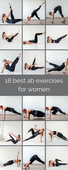 18 best ab exercises for women | refresh your core routine with these 18 ab exercises; it will challenge the two dozen muscles between your hips and shoulders from every angle. 20 minute complete core workout, 8 minute ab workout for your cardio training, 5 minute add on to workout of the day. Boat pose, knee pull, obliques, low planks, leg extensions, scissors. | www.nourishmovelove.com