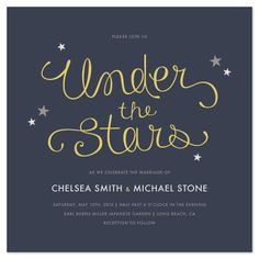 Tags: wedding invitations, Stars, Night, Simple, Fun, Summer, Outdoor, Whimsical    Designers were asked to submit a chic and modern design. If you see a design that is not available for sale, please contact customerservice@minted.com and we will help you purchase the design.