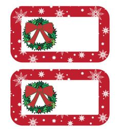 Beautiful Christmas Gift Tags That Are Free to Print: Christmas Wreath Tags From Torta Gialla