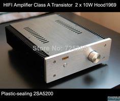 HIFI Amplifier Class A Plastic Seal Transistor 2 x 10W Hood1969 Circuit Whole Aluminum Casing High Quality $159.00