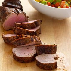 Hearty pork tenderloin is balanced by a vibrant succotash salad, which is delicious year-round. To boost the protein factor, trade lima beans for shelled edamame. Get the recipe.  - WomansDay.com