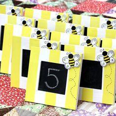 BUMBLEBEE Chalkboards  Set of 5 HandPainted by ivylanedesigns, $50.00
